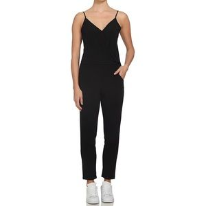 NWT 1. State Black Cross Front Jumpsuit Large